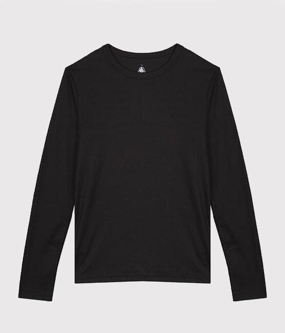 Camiseta de algodón Sea Island para mujer negro Noir