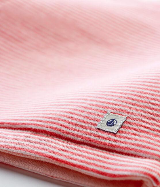 Chaleco de bebé en punto rosa Cheek / blanco Marshmallow