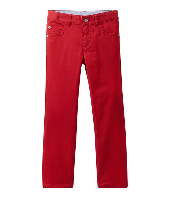 Pantalón colorido para niño en jean rojo Terkuit