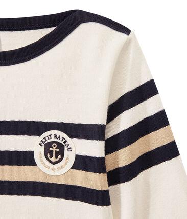 Marinera en jersey tupido para niño