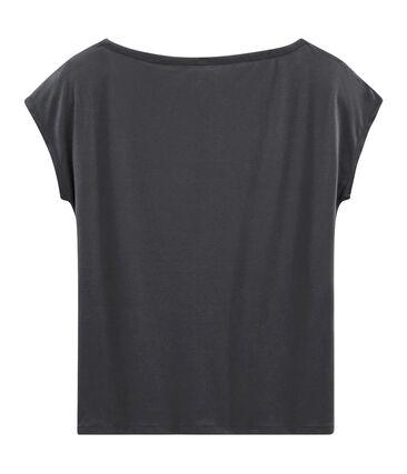 Camiseta manga corta de algodón sea island para mujer