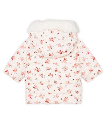 Plumas de microfibra estampado para bebé niña rosa Fleur / blanco Multico