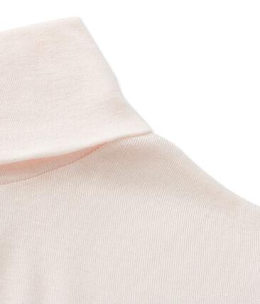Cuello cisne para mujer en algodón ligero rosa Fleur