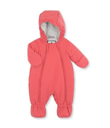 Buzo de microfibra para bebé unisex rosa Cosmetique