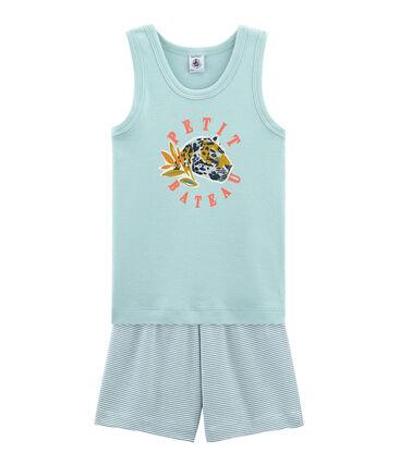 f70ab33277 Pijama corto de punto para niño