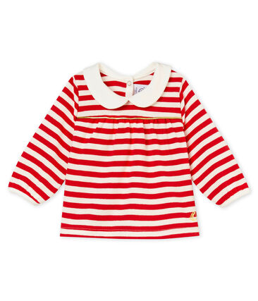 Blusa para bebé niña a rayas