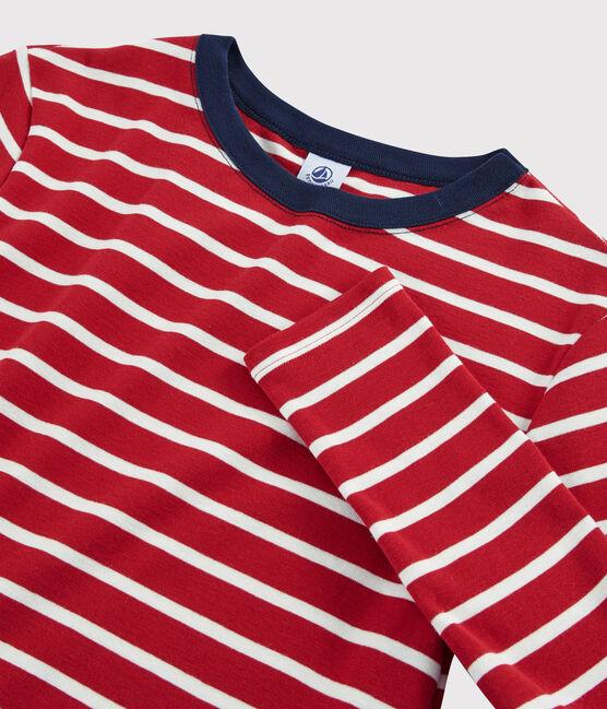 Camiseta icónica con cuello redondo para mujer rojo Terkuit / blanco Marshmallow