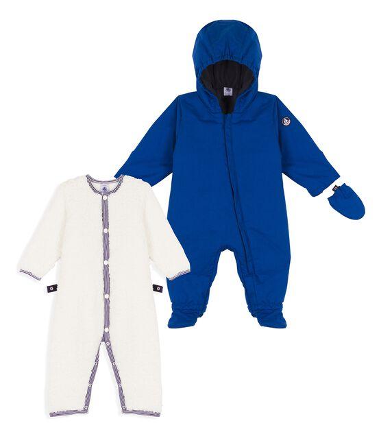 Buzo 3 en 1 para bebé niño azul Limoges