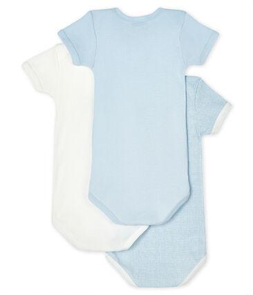 Tres bodis de manga corta para bebé de niño lote .