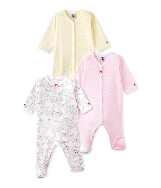 Lot de 3 pijamas para bebé niña lote .
