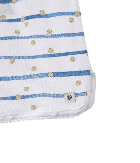 Pijama corto blanco Ecume / azul Bleu