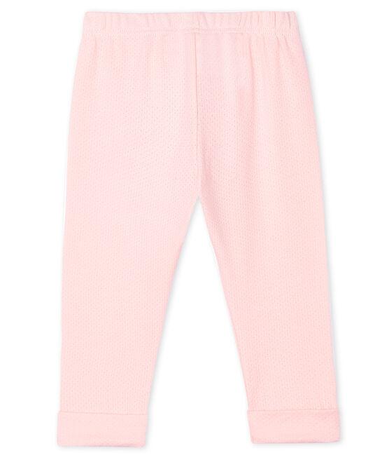 Pantalón de malla lisa para bebé niña rosa Minois