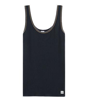 Camiseta de tirantes para mujer de punto 2x2 azul Smoking