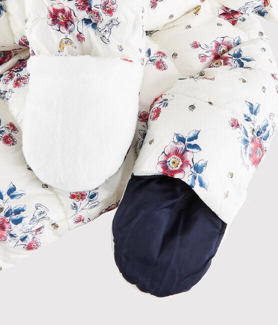 Sujetador con relleno con minicorazones para niña blanco Marshmallow / rosa Rose