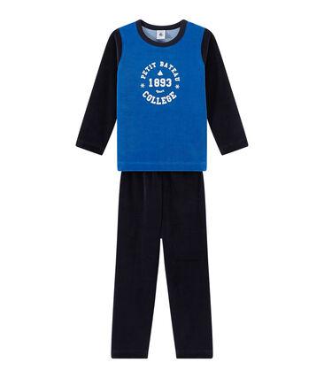 Pijama de terciopelo con motivo estampado para niño