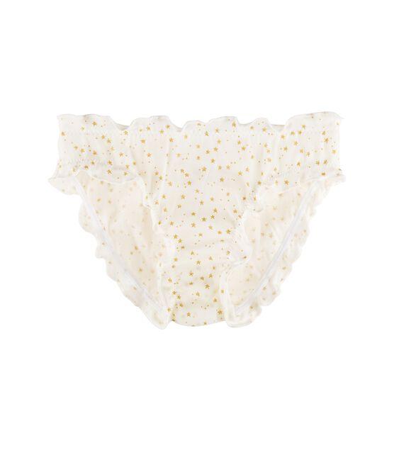 Braguita para niña blanco Marshmallow / amarillo Or