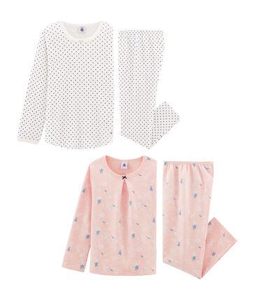 Dúo de pijamas para niña lote .
