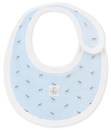 Babero para bebé mixto en túbico estampado azul Fraicheur / blanco Multico