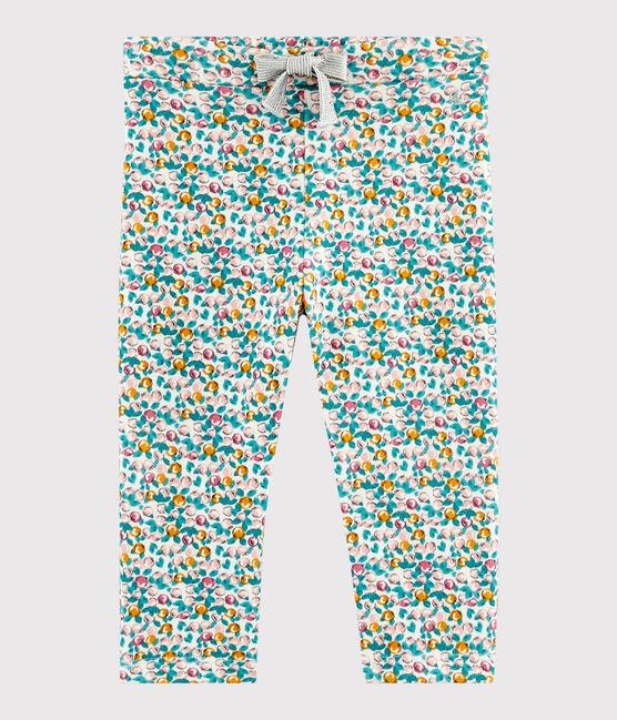 Pantalón para bebé niña blanco Marshmallow / blanco Multico