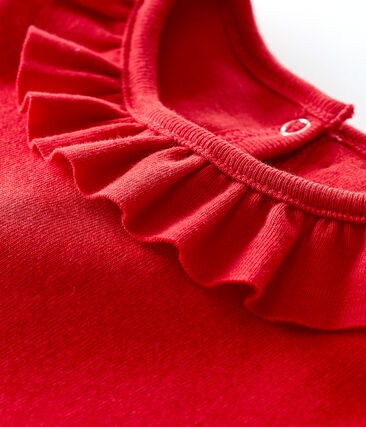 Blusa manga corta para bebé niña rojo Terkuit