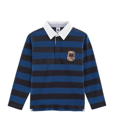 Polo de rugby de rayas para niño azul Smoking / azul Limoges