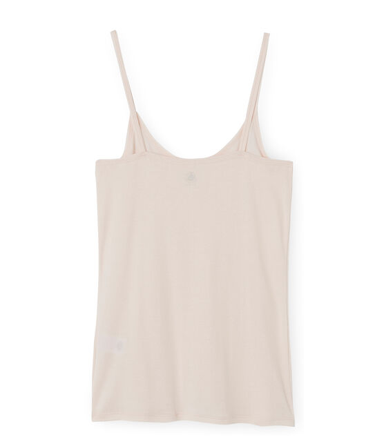 Camisa de tirantes de algodón ligero para mujer rosa Fleur