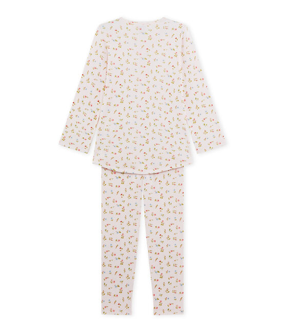 Pyjama fille à imprimé petites fleurs rosa Vienne / blanco Multico