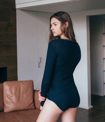 Bodies para mujer azul Smoking