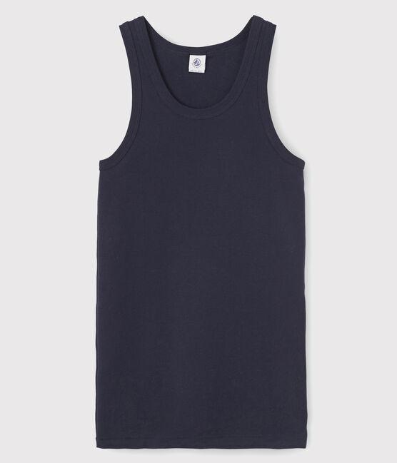 Camiseta de tirantes emblemática de algodón de mujer azul Smoking