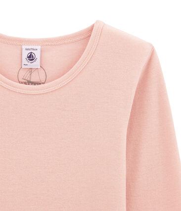 Camiseta de manga larga en lana y algodón