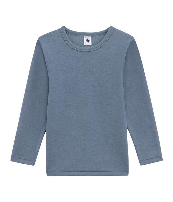 Camiseta de manga larga para niño azul Turquin