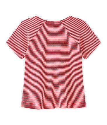 Camiseta para bebé niña a rayas