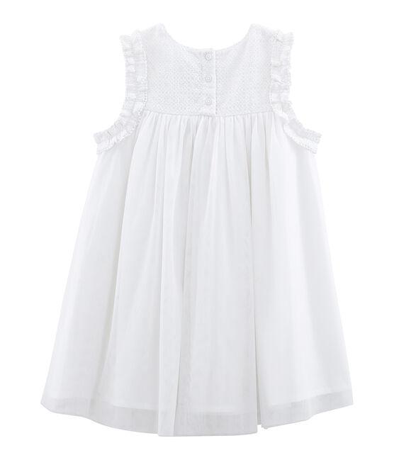 Vestido de ceremonia infantil para niña blanco Ecume / amarillo Or