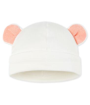 Gorro para bebé de punto blanco Marshmallow