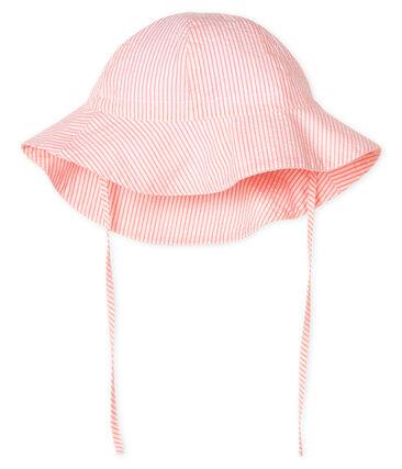Capelina de sirsaca bebé niña blanco Marshmallow / rosa Rosako