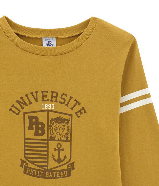 Camiseta de manga larga para niño amarillo Inca