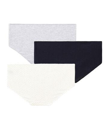 Tres culottes de algodón stretch para chica