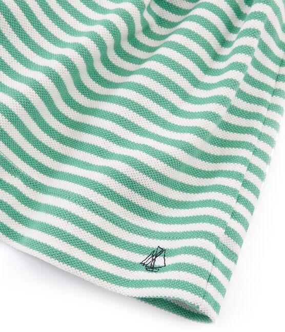 Falda-pantalón infantil para niña verde Aloevera / blanco Marshmallow