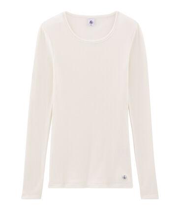 Camiseta cálida de mujer blanco Marshmallow