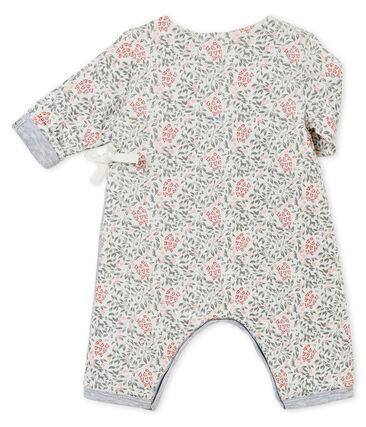 Pelele guatinado y estampado para bebé niña