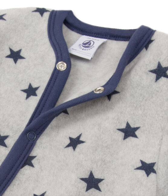 Pijama manta para bebé niño gris Subway / azul Logo