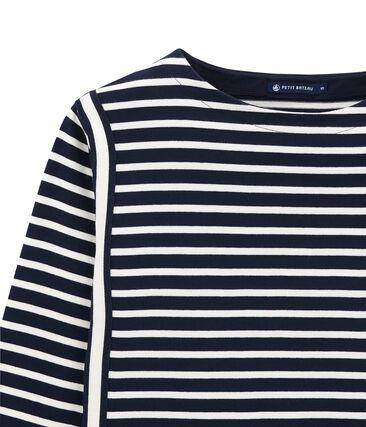 Camiseta para mujer a raya en jersey grueso
