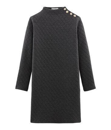 Vestido de túbico de manga larga para mujer gris City Chine
