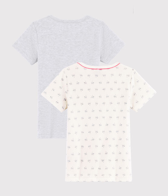 Juego de 2 camisetas de manga corta con estampado de gato de niña pequeña lote .