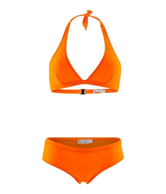 Traje de baño de 2 piezas ecorresponsable naranja Tiger