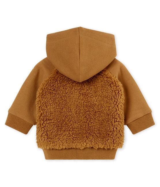Sudadera con capucha para bebé niño sherpa marrón Brindille