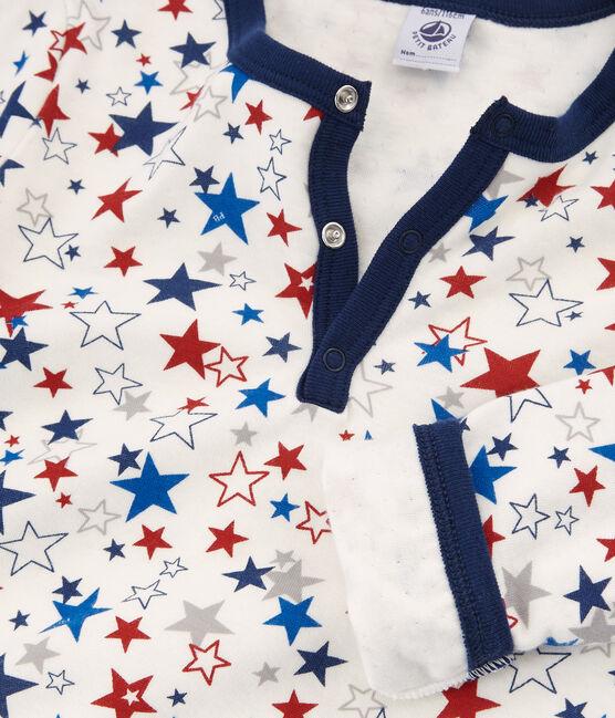 Pijama de tela túbica para niño blanco Marshmallow / blanco Multico