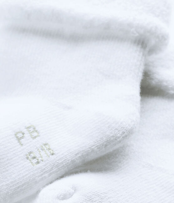 Calcetines para bebé de rizo blanco Ecume