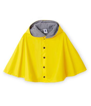 Poncho de lluvia para bebé unisex amarillo Jaune