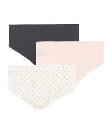 Tres culottes de algodón stretch para niña
